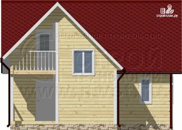 Фото 9: проект дачный дом 6х8 м из бруса, с балконом в мансарде