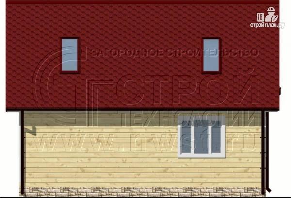 Фото 8: проект дачный дом 6х8 м из бруса, с балконом в мансарде