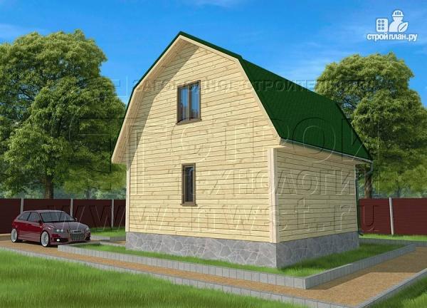Фото 2: проект дачный дом 6х6 м из бруса