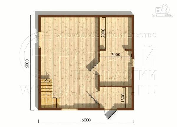 Фото 5: проект дачный дом 6х6 м из бруса