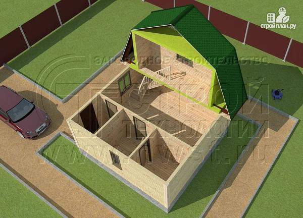 Фото 4: проект дачный дом 6х6 м из бруса