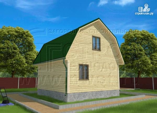 Фото 3: проект дачный дом 6х6 м из бруса