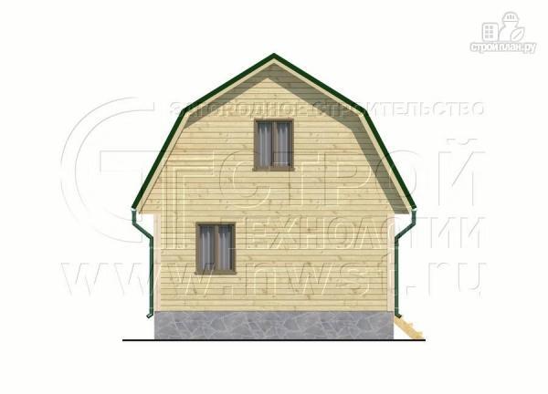 Фото 10: проект дачный дом 6х6 м из бруса