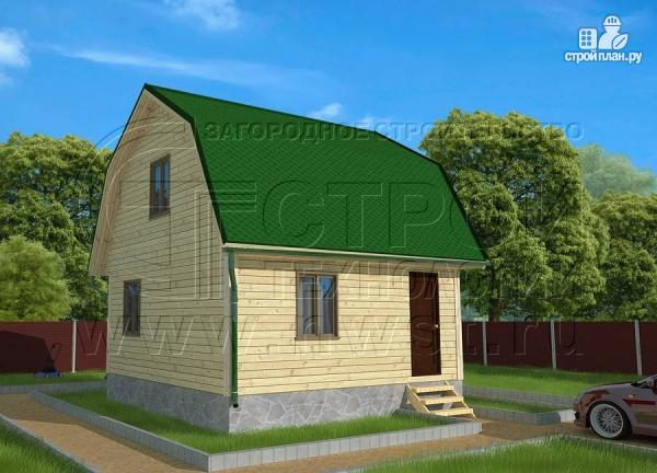 Фото: проект дачный дом 6х6 м из бруса