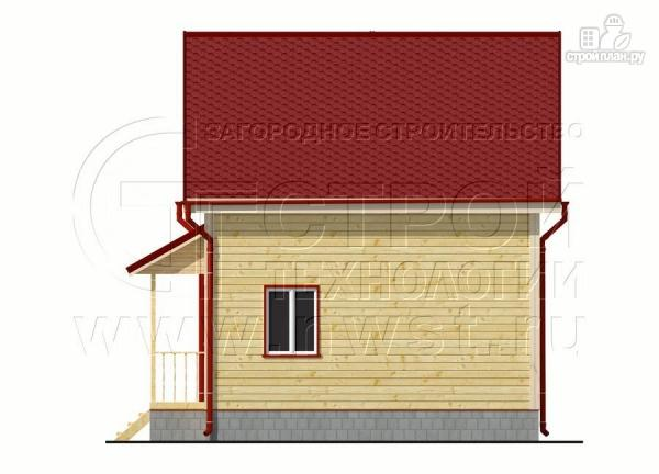 Фото 9: проект дачный дом 6х6 м полтора этажа с крыльцом