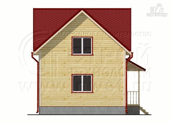 Фото 7: проект дачный дом 6х6 м полтора этажа с крыльцом