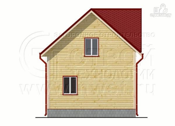 Фото 10: проект дачный дом 6х6 м полтора этажа с крыльцом