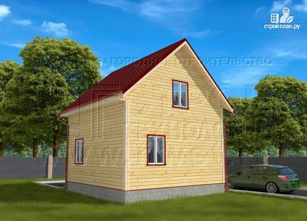Фото 3: проект дачный дом 6х6 м полтора этажа с крыльцом