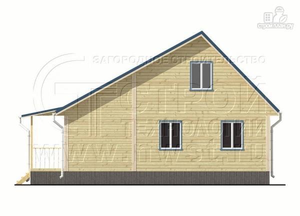 Фото 9: проект дачный брусовой дом 6х6 м с крыльцом