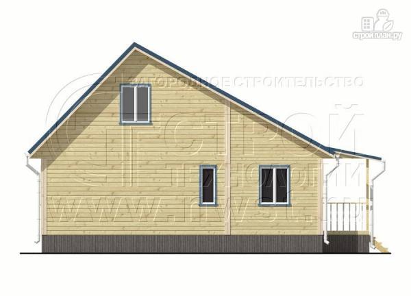 Фото 7: проект дачный брусовой дом 6х6 м с крыльцом