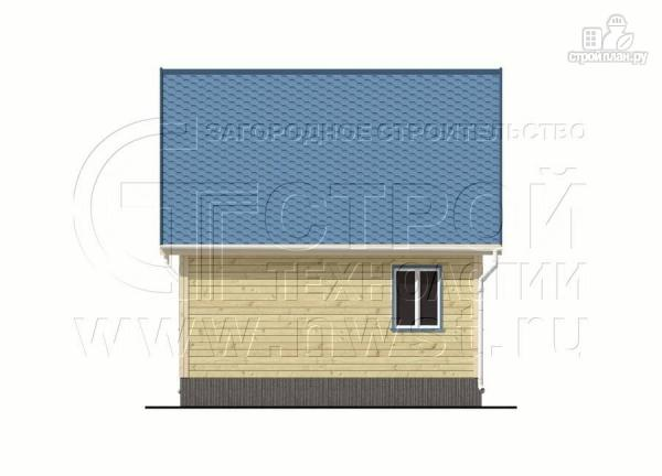 Фото 10: проект дачный брусовой дом 6х6 м с крыльцом