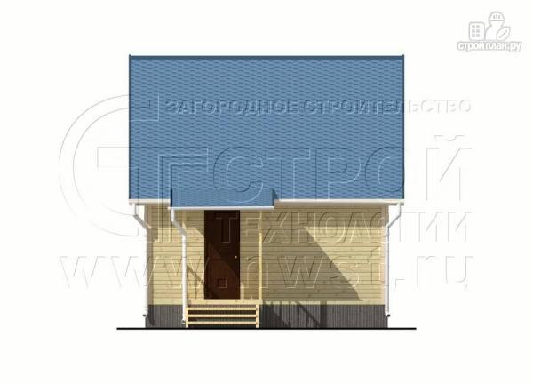 Фото 8: проект дачный брусовой дом 6х6 м с крыльцом