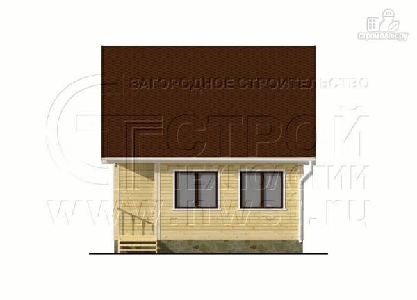 Фото 8: проект дачный дом 6х6 м с верандой