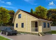 Проект дачный дом 6х6 м с верандой