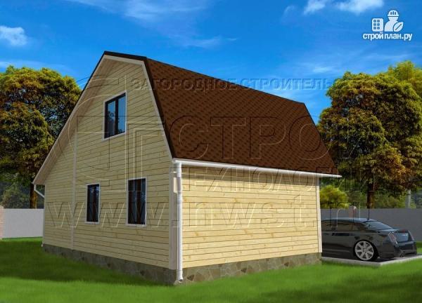 Фото 3: проект дачный дом 6х6 м с верандой