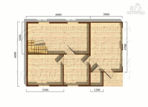 Фото 5: проект дачный дом 6х6 м с верандой
