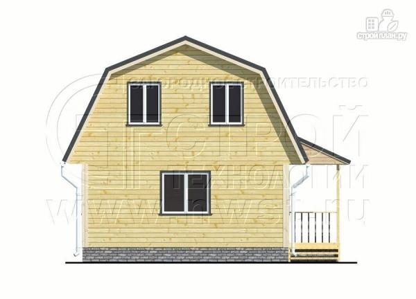 Фото 10: проект дачный дом 6х6 м с мансардой и угловой террасой