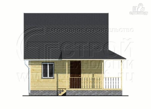 Фото 7: проект дачный дом 6х6 м с мансардой и угловой террасой