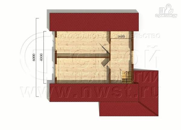 Фото 6: проект дачный дом 6х6 м с мансардой и угловой террасой
