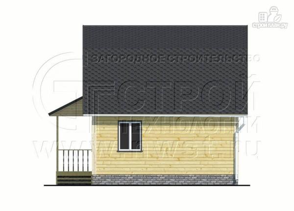 Фото 9: проект дачный дом 6х6 м с мансардой и угловой террасой