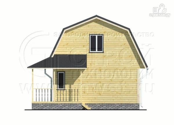 Фото 8: проект дачный дом 6х6 м с мансардой и угловой террасой