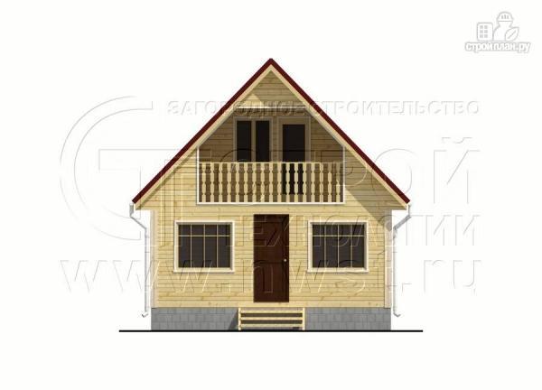 Фото 8: проект дачный дом 6х7 м с верандой и балконом