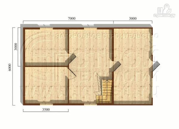 Фото 5: проект дачный дом 6х7 м с верандой и балконом