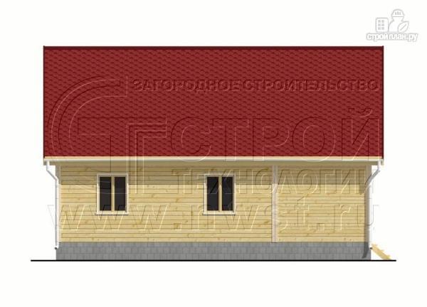 Фото 7: проект дачный дом 6х7 м с верандой и балконом