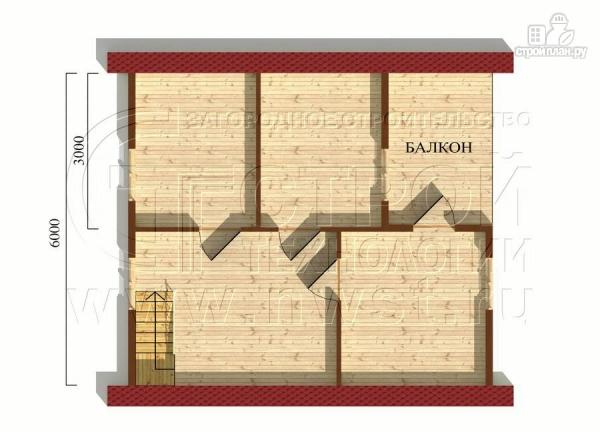 Фото 6: проект дачный дом 6х7 м с лоджией
