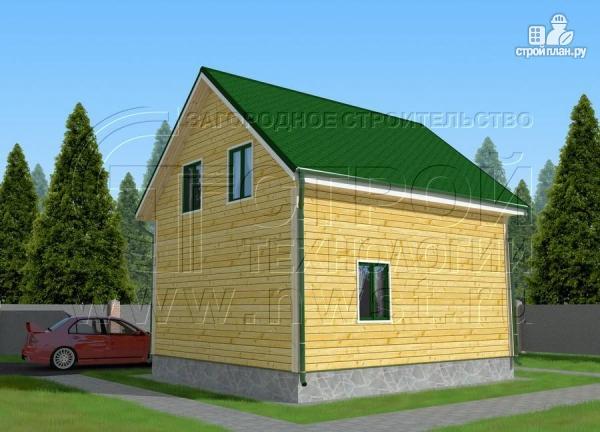 Фото 3: проект дачный дом 6х7 м с лоджией