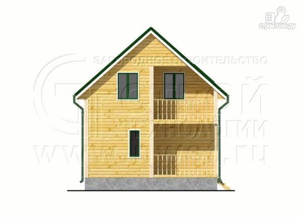 Фото 7: проект дачный дом 6х7 м с лоджией