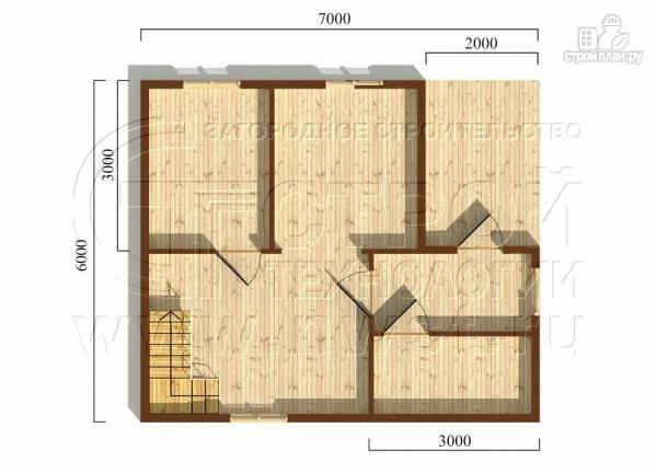 Фото 5: проект дачный дом 6х7 м с лоджией