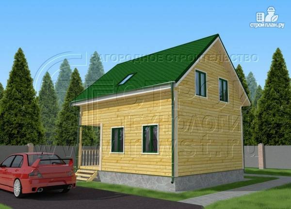 Фото 2: проект дачный дом 6х7 м с лоджией