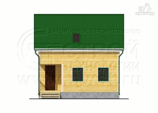 Фото 8: проект дачный дом 6х7 м с лоджией