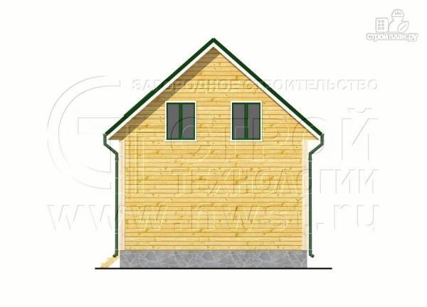 Фото 9: проект дачный дом 6х7 м с лоджией