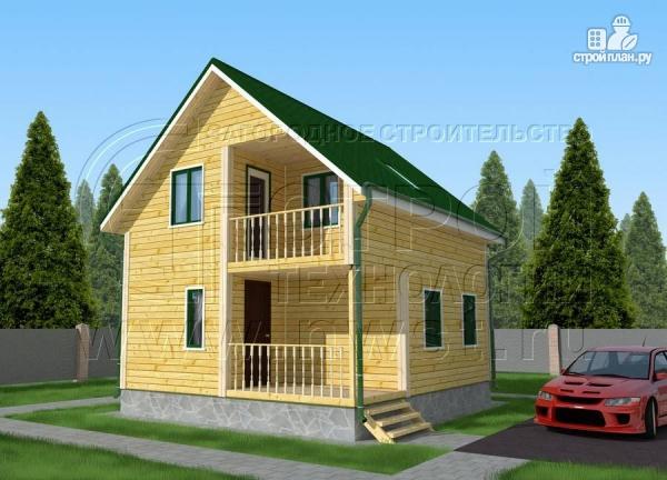 Фото: проект дачный дом 6х7 м с лоджией