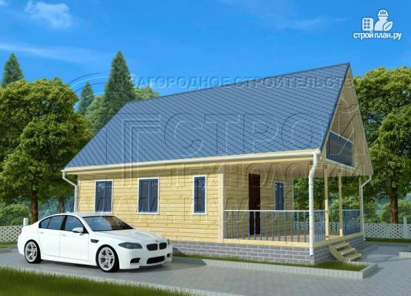 Фото 2: проект дачный дом 6х7 м с мансардой, террасой 18 м2и лоджией