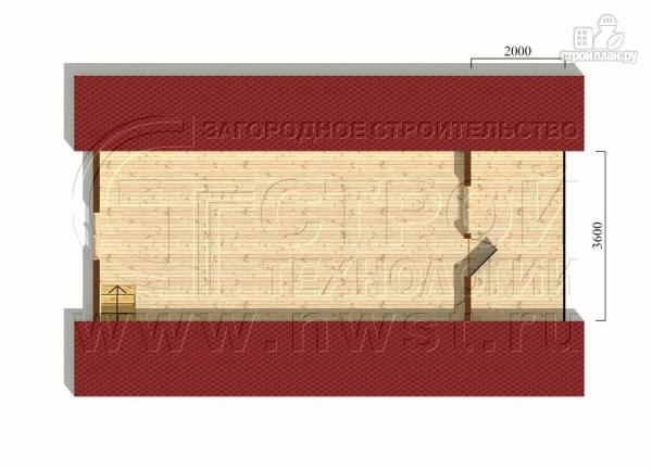 Фото 6: проект дачный дом 6х7 м с мансардой, террасой 18 м2и лоджией