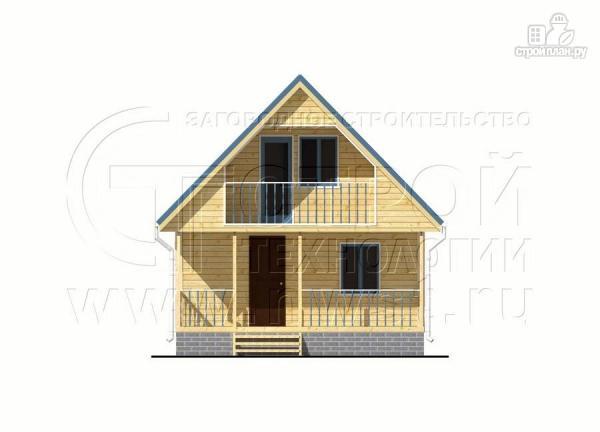Фото 7: проект дачный дом 6х7 м с мансардой, террасой 18 м2и лоджией