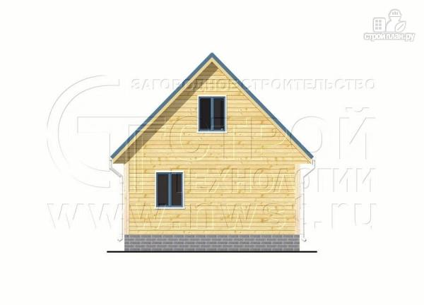 Фото 9: проект дачный дом 6х7 м с мансардой, террасой 18 м2и лоджией