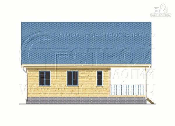 Фото 10: проект дачный дом 6х7 м с мансардой, террасой 18 м2и лоджией