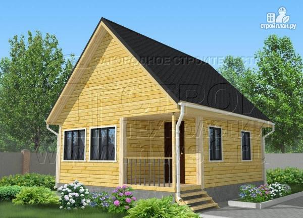Фото: проект дачный дом 6х7 м с мансардой ивторым светом