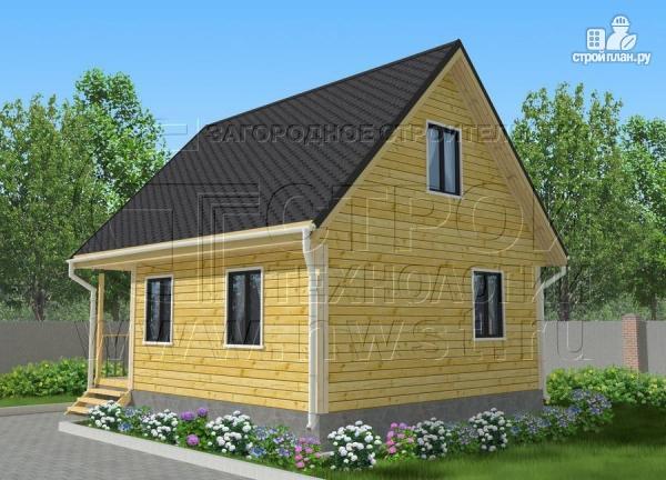 Фото 2: проект дачный дом 6х7 м с мансардой ивторым светом