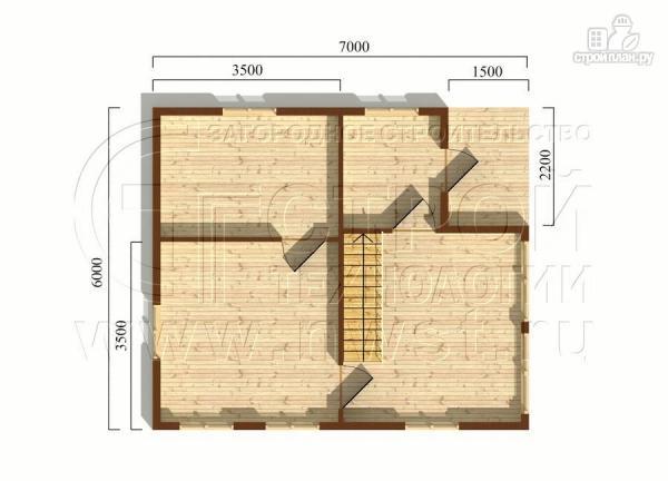 Фото 5: проект дачный дом 6х7 м с мансардой ивторым светом