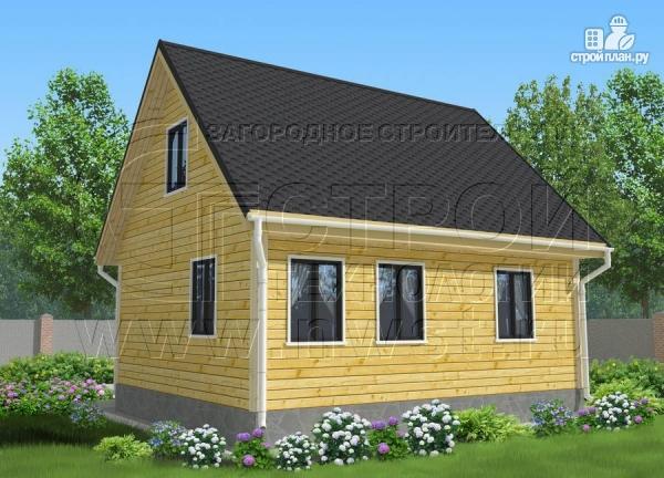 Фото 3: проект дачный дом 6х7 м с мансардой ивторым светом