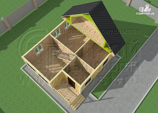 Фото 4: проект дачный дом 6х7 м с мансардой ивторым светом