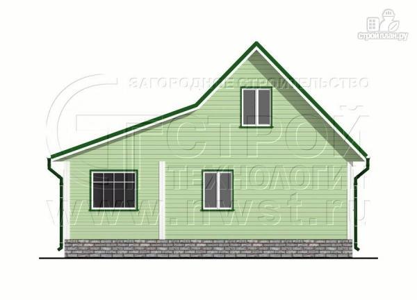 Фото 9: проект дачный брусовой дом 6х7 м с мансардой и верандой