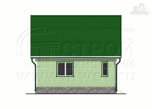 Фото 10: проект дачный брусовой дом 6х7 м с мансардой и верандой