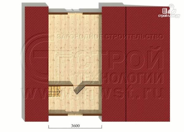 Фото 6: проект дачный брусовой дом 6х7 м с мансардой и верандой
