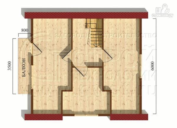 Фото 6: проект дом 6х7 м полтора этажа с балконом